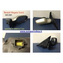 Specchio RENAULT MEGANE SCENIC Retrovisore Elettrico Destro 7 PIN